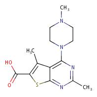 2,5-Dimethyl-4-(4-methylpiperazin-1-yl)thieno[2,3-d]pyrimidine-6-carboxylic acid