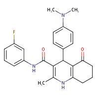 4-(4-(Dimethylamino)phenyl)-N-(3-fluorophenyl)-2-methyl-5-oxo-1,4,5,6,7,8-hexahydroquinoline-3-carboxamide