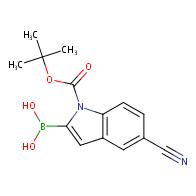 (1-(tert-Butoxycarbonyl)-5-cyano-1H-indol-2-yl)boronic acid