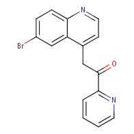 2-(6-Bromoquinolin-4-yl)-1-(pyridin-2-yl)ethanone