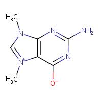 2-amino-7,9-dimethyl-9H-purin-7-ium-6-olate