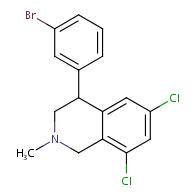 4-(3-bromophenyl)-6,8-dichloro-2-methyl-1,2,3,4-tetrahydroisoquinoline