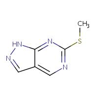 6-(methylsulfanyl)-1H-pyrazolo[3,4-d]pyrimidine