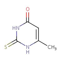 2,3-dihydro-6-methyl-2-thioxopyrimidin-4(1H)-one