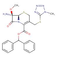 benzhydryl (6R,7S)-7-amino-7-methoxy-3-(((1-methyl-1H-tetrazol-5-yl)thio)methyl)-8-oxo-5-thia-1-azabicyclo[4.2.0]oct-2-ene-2-carboxylate