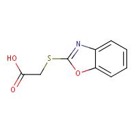(1,3-benzoxazol-2-ylthio)acetic acid