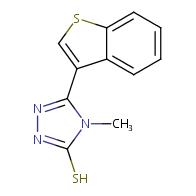 5-(1-benzothien-3-yl)-4-methyl-4H-1,2,4-triazole-3-thiol