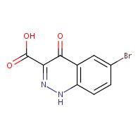 6-bromo-4-oxo-1,4-dihydrocinnoline-3-carboxylic acid