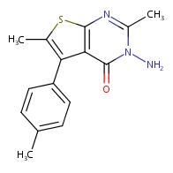 3-amino-2,6-dimethyl-5-(4-methylphenyl)thieno[2,3-d]pyrimidin-4(3H)-one