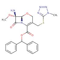 (6R,7R)-Benzhydryl 7-amino-7-methoxy-3-(((1-methyl-1H-tetrazol-5-yl)-thio)methyl)-8-oxo-5-oxa-1-azabicyclo[4.2.0]oct-2-ene-2-carboxylate