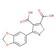 3-(benzo[d][1,3]dioxol-5-yl)isothiazole-4,5-dicarboxylic acid