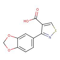 3-(benzo[d][1,3]dioxol-5-yl)isothiazole-4-carboxylic acid