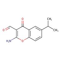 2-amino-6-isopropyl-4-oxo-4H-chromene-3-carbaldehyde