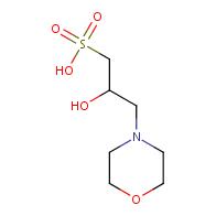2-Hydroxy-3-morpholinopropane-1-sulfonic acid