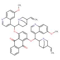 1,4-Bis((6-methoxyquinolin-4-yl)(5-vinylquinuclidin-2-yl)methoxy)anthracene-9,10-dione