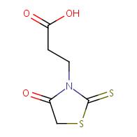 3-(4-oxo-2-thioxo-1,3-thiazolidin-3-yl)propanoic acid