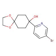 8-(5-Bromo-2-pyridyl)-8-hydroxy-1,4-dioxaspiro[4.5]decane