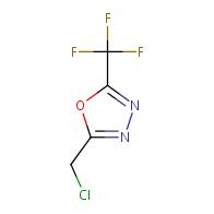 2-(chloromethyl)-5-(trifluoromethyl)-1,3,4-oxadiazole