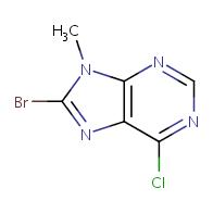 8-bromo-6-chloro-9-methyl-9H-purine