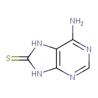 6-amino-8,9-dihydro-7H-purine-8-thione