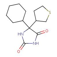 5-Cyclohexyl-5-(tetrahydro-3-thiophenyl)-2,4-imidazolidinedione