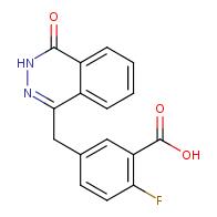 2-Fluoro-5-[(4-oxo-3,4-dihydrophthalazin-1-yl)methyl]benzoic acid