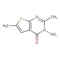 3-amino-2,6-dimethylthieno[2,3-d]pyrimidin-4(3H)-one