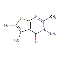 3-amino-2,5,6-trimethylthieno[2,3-d]pyrimidin-4(3H)-one