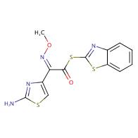 (Z)-S-2-Benzothiazolyl-2-amino-alpha-(methoxyimino)-4-thiazolethiolacetate