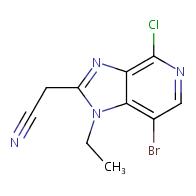 2-{7-bromo-4-chloro-1-ethyl-1H-imidazo[4,5-c]pyridin-2-yl}acetonitrile