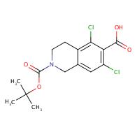 2-[(tert-butoxy)carbonyl]-5,7-dichloro-1,2,3,4-tetrahydroisoquinoline-6-carboxylic acid