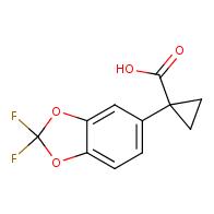 1-(2,2-difluoro-1,3-benzodioxol-5-yl)cyclopropane-1-carboxylic acid