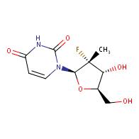 1-[(2R,3R,4R,5R)-3-fluoro-4-hydroxy-5-(hydroxymethyl)-3-methyloxolan-2-yl]-1,2,3,4-tetrahydropyrimidine-2,4-dione