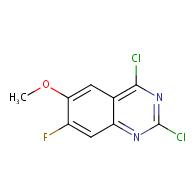 2,4-dichloro-7-fluoro-6-methoxyquinazoline