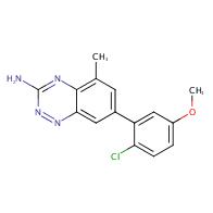 7-(2-chloro-5-methoxyphenyl)-5-methylbenzo[e][1,2,4]triazin-3-amine