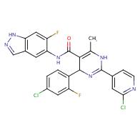 4-(4-Chloro-2-fluorophenyl)-2-(2-chloropyridin-4-yl)-N-(6-fluoro-1H-indazol-5-yl)-6-methyl-1,4-dihydropyrimidine-5-carboxamide