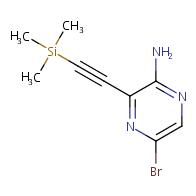 5-bromo-3-(2-(trimethylsilyl)ethynyl)pyrazin-2-amine