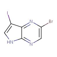 2-bromo-7-iodo-5H-pyrrolo[2,3-b]pyrazine