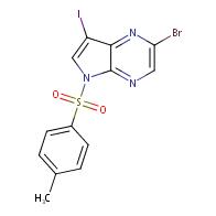 2-bromo-7-iodo-5-(4-methylbenzenesulfonyl)-5H-pyrrolo[2,3-b]pyrazine