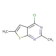 4-Chloro-2,6-dimethylthieno[2,3-d]pyrimidine