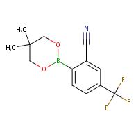 2-(5,5-Dimethyl-1,3,2-dioxaborinan-2-yl)-5-(trifluoromethyl)benzonitrile