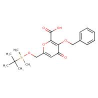 3-benzyloxy-6-(tert-butyl-dimethylsilanyloxymethyl)-4-oxo-4h-pyran-2-carboxylic acid