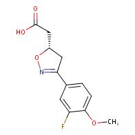 (S)-2-(3-(3-fluoro-4-methoxyphenyl)-4,5-dihydroisoxazol-5-yl)acetic acid