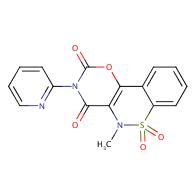 5-Methyl-3-(pyridin-2-yl)benzo[5,6][1,2]thiazino-[3,4-e][1,3]oxazine-2,4(3H,5H)-dione 6,6-dioxide