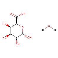 (2S,3R,4S,5R,6S)-3,4,5,6-tetrahydroxytetrahydro-2H-pyran-2-carboxylic acid hydrate