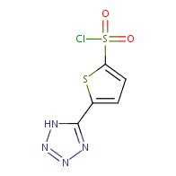 5-(1H-tetrazol-5-yl)thiophene-2-sulfonyl chloride