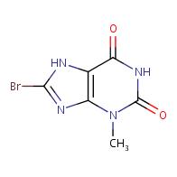 8-bromo-3-methyl-2,3,6,7-tetrahydro-1H-purine-2,6-dione