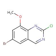 6-bromo-2-chloro-8-methoxyquinazoline