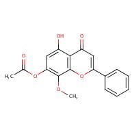 5-hydroxy-8-methoxy-4-oxo-2-phenyl-4H-chromen-7-yl acetate