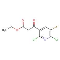ethyl 3-(2,6-dichloro-5-fluoropyridin-3-yl)-3-oxopropanoate